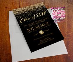 Glitter Graduation Invite