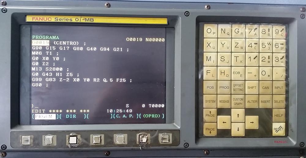 Ejemplo de programa de un proceso de taladrado en Código G