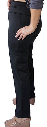 Pantalón Tiro Alto liso Negro.