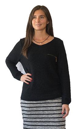 Sweater Negro con  Cierre