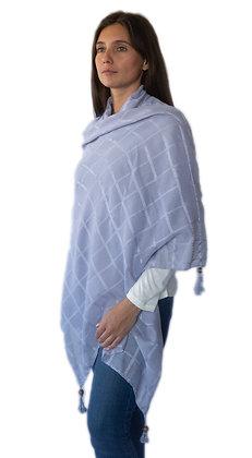 Pañuelo Azuloso con textura.
