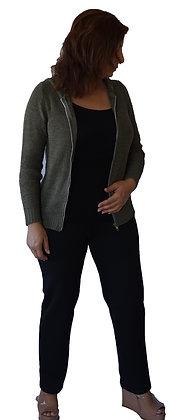 Pantalón Tiro Alto texturado Negro.