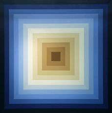 Square Series Blue to White to Brown 72x
