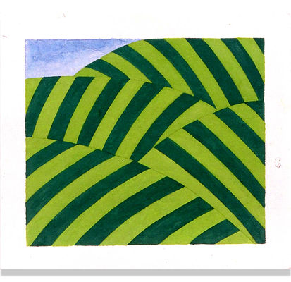 Costa Rica Hills II 9x11_ W_C on Paper 1