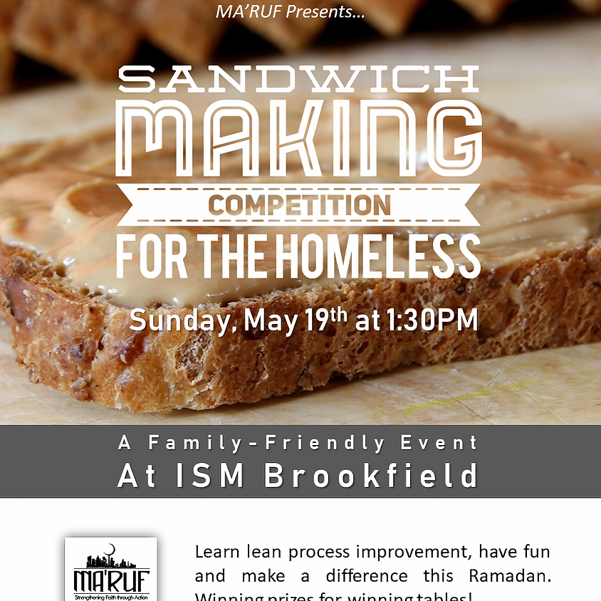 Sandwich Making Competition for the Homeless