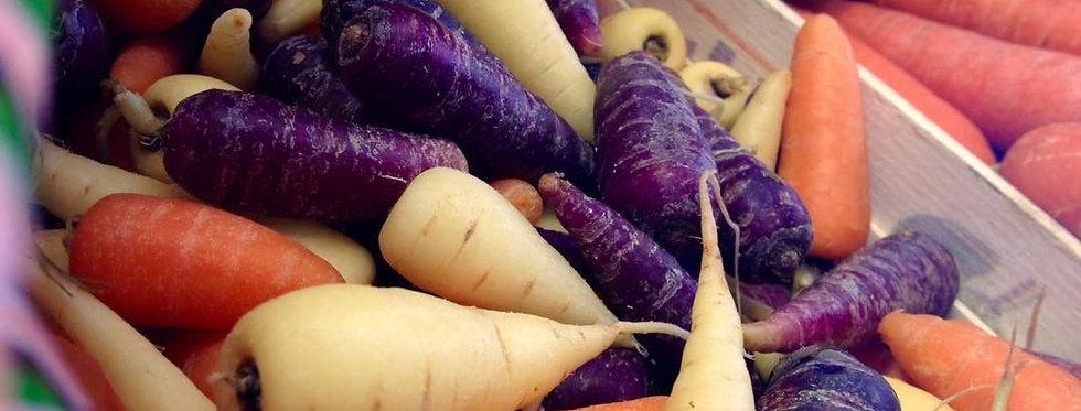 Tri Colour Chantenay Carrots (250g)