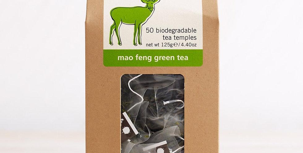 Teapigs Mao Feng Green Tea 50 Biodegradable tea temples