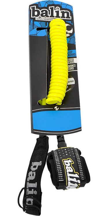 Balin Monstercoil SUP Ankle Leash 10' - Yellow