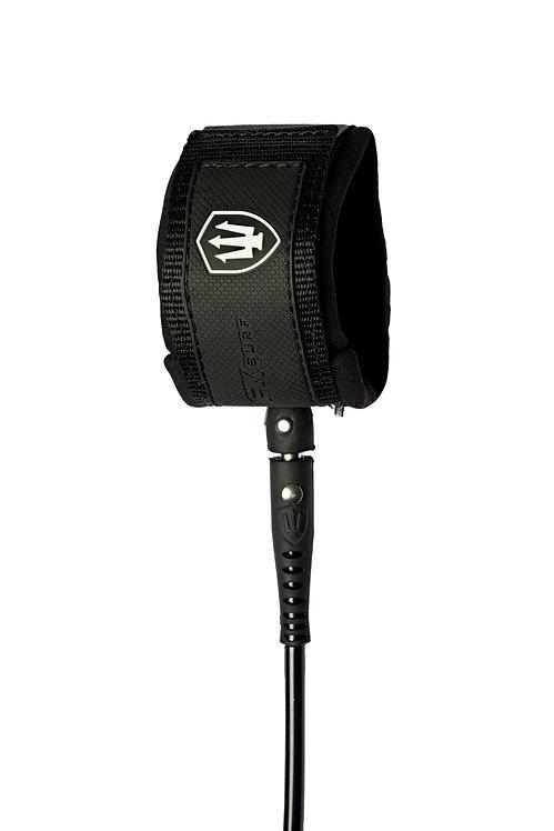 FK Surf Comp Leash 6' - Black/Black/White