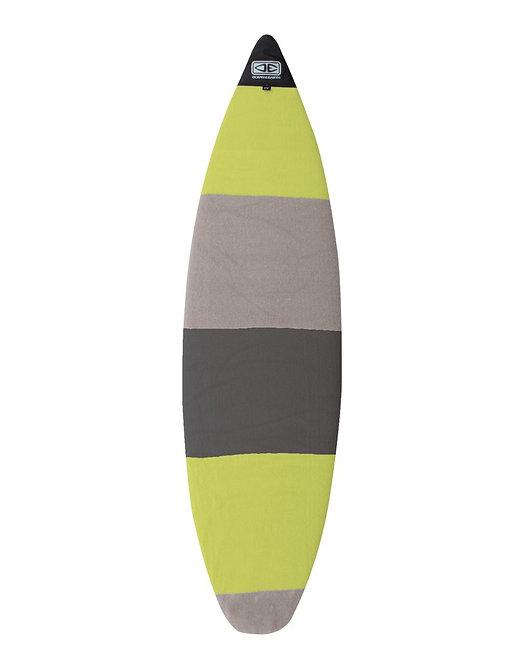 Ocean & Earth Shortboard Stretch SOX Board Cover - Lime Stripe