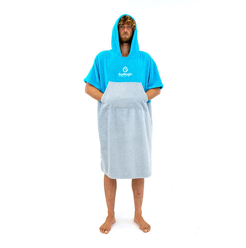 Surflogic Poncho - Cyan & Grey