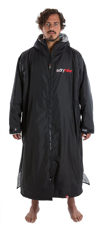 dryrobe Advance Long Sleeve - Black & Grey - XL
