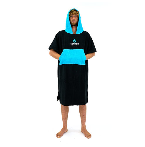 Surflogic Poncho - Black & Cyan