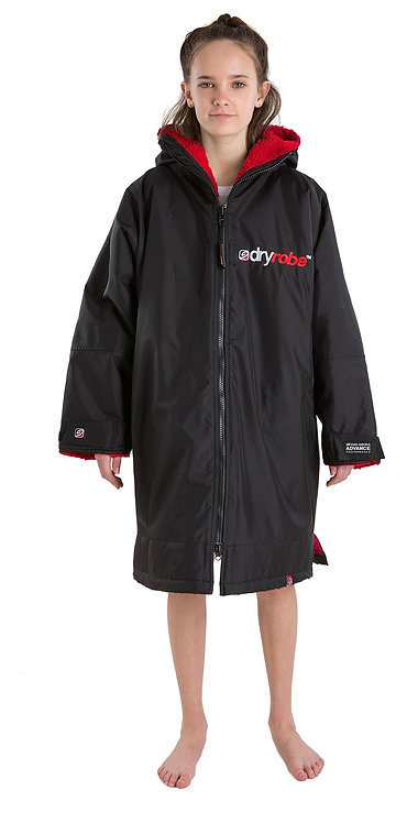 dryrobe Advance Long Sleeve - Black & Red