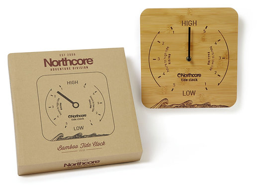 Northcore Bamboo Tide Clock - Wall Mounted