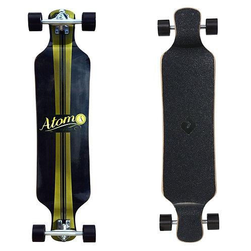 Atom Micro Drop Deck Longboard - 39 Inch (Artisan Brown)