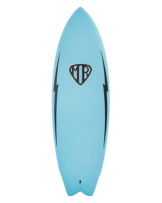 "MR Epoxy Twin Fin Softboard 5'6"" Blue"