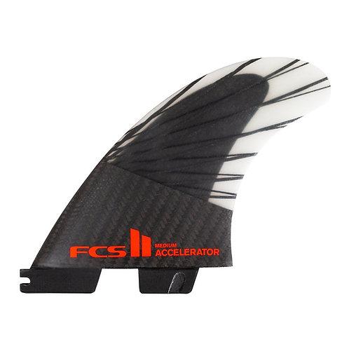 FCS II Accelerator PC Carbon + AirCore Tri Fins