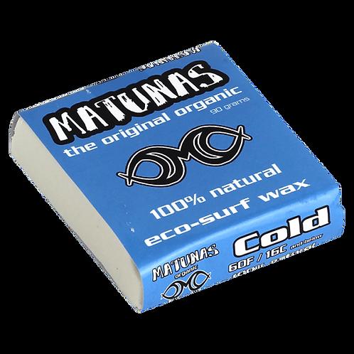 Matunas 100% Natural & Organic Surf Wax - Cold