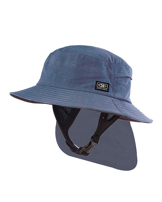 Ocean & Earth Mens Indo Stiff Peak Surf Hat - Blue Marle