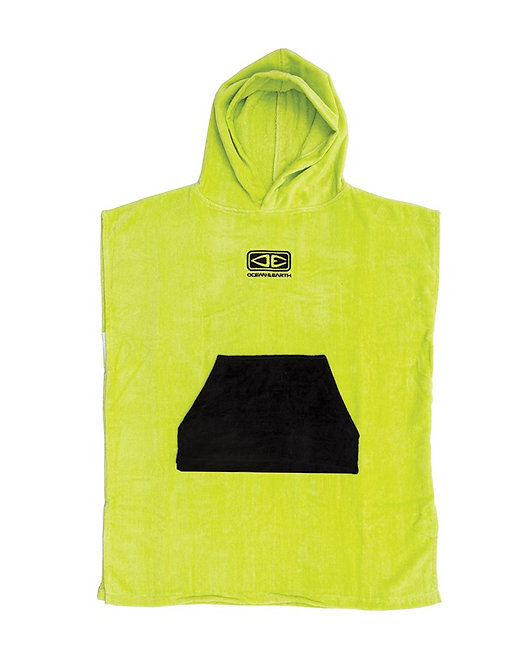 Ocean & Earth Kids Hooded Poncho - Lime