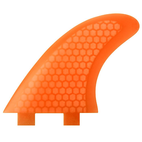 ECS FCS Compatible M-5 Template Tri Fin Set - Orange