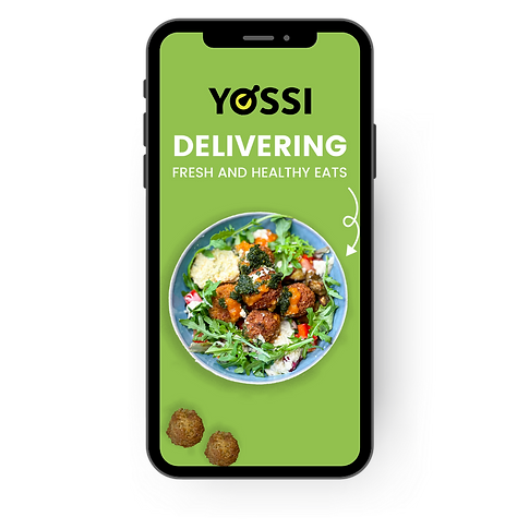 Food delivery advert on a mobile phone