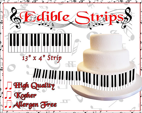 Piano Keys - edible strips for sides of cakes