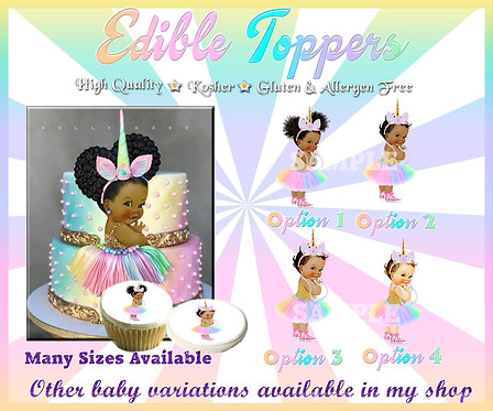 Vintage unicorn baby girl with rainbow tutu and pink shoes