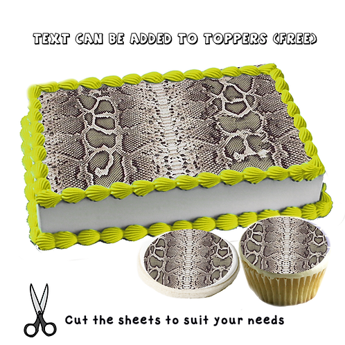 Snake pattern Edible cake topper