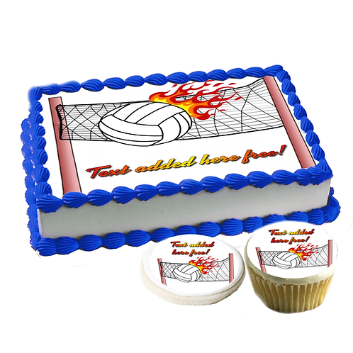Volleyball Edible cake topper