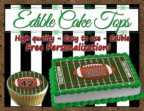 Football Edible cake topper