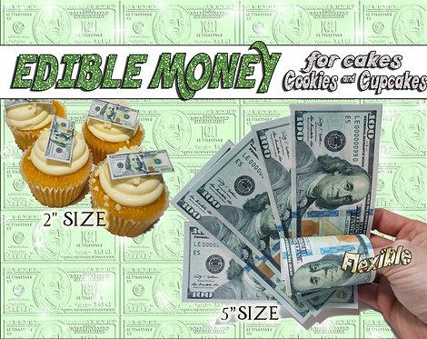 Edible money for cakes New blue $100 bills