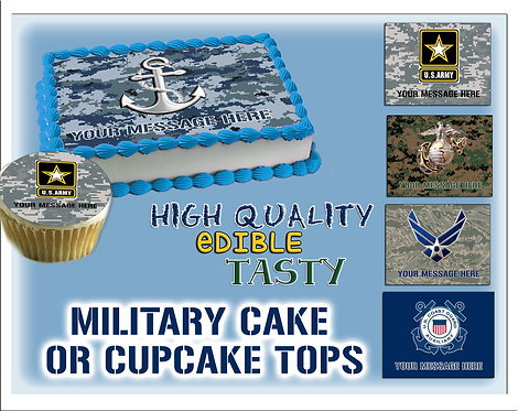 Military cake toppers - Marines, Air Force, Coast Guard, Navy, Army