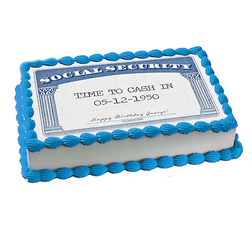 Edible Social Security card - Any text free!