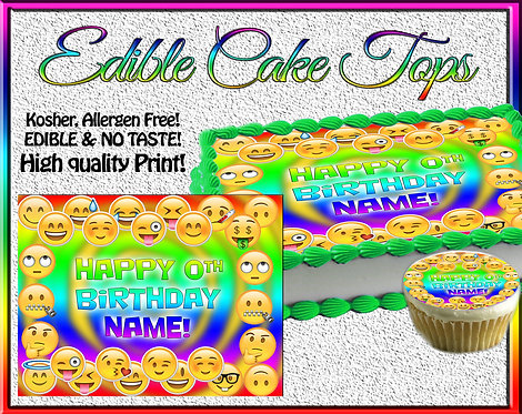 Emoji Edible topper for cakes or cupcakes