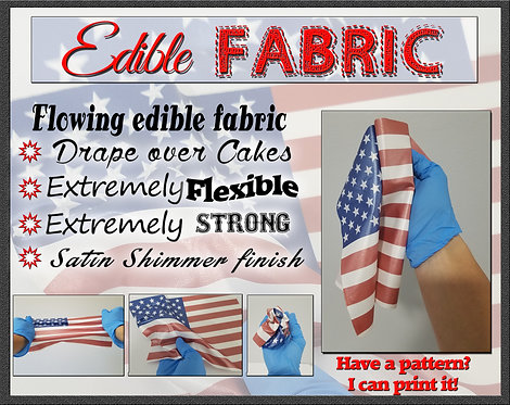 Draping American flag - I can also print your pattern on these