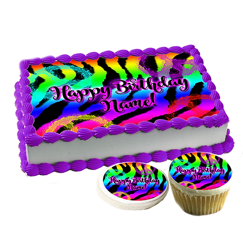 """Peace Zebra print"" Cake topper"
