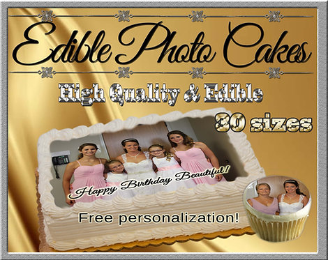 Custom edible cake topper - You provide the picture