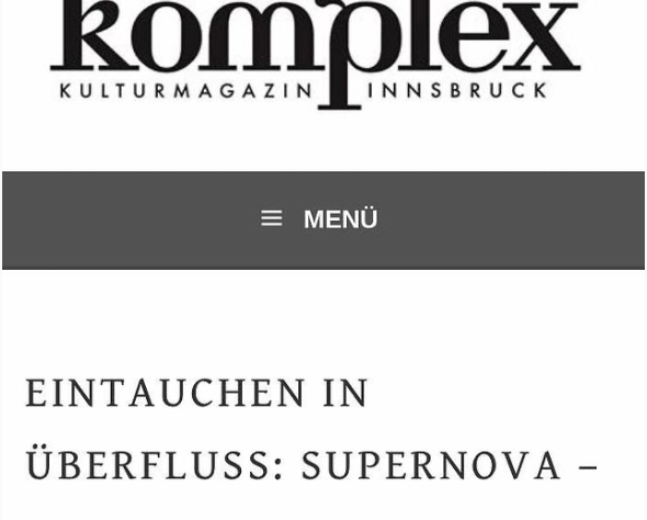 SUPERNOVA - KOMPLEX KULTURMAGAZIN