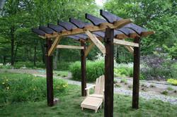 Timber Framed Pergola - Blue Hill