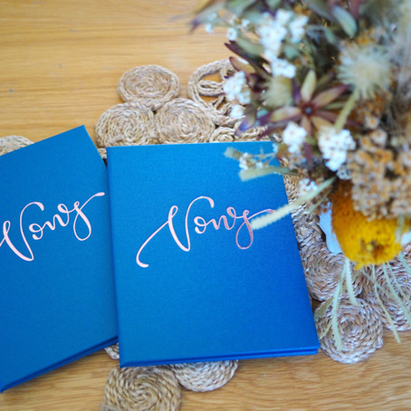 Vow Card & Certificate Holders