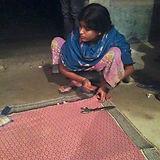 Handsewn sari blanket
