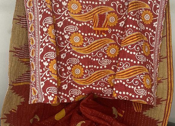 Kantha Throw Blanket