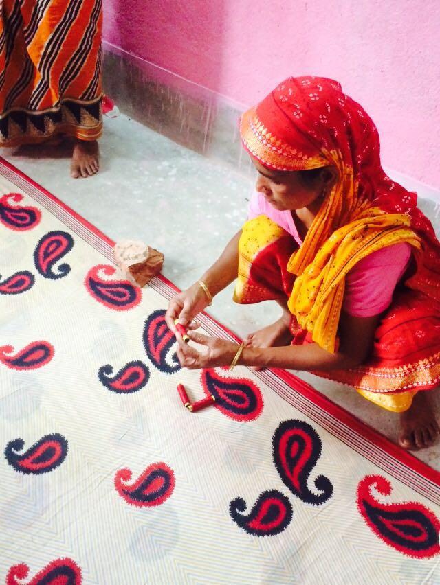 Hand-Sewing the Kantha Stitch
