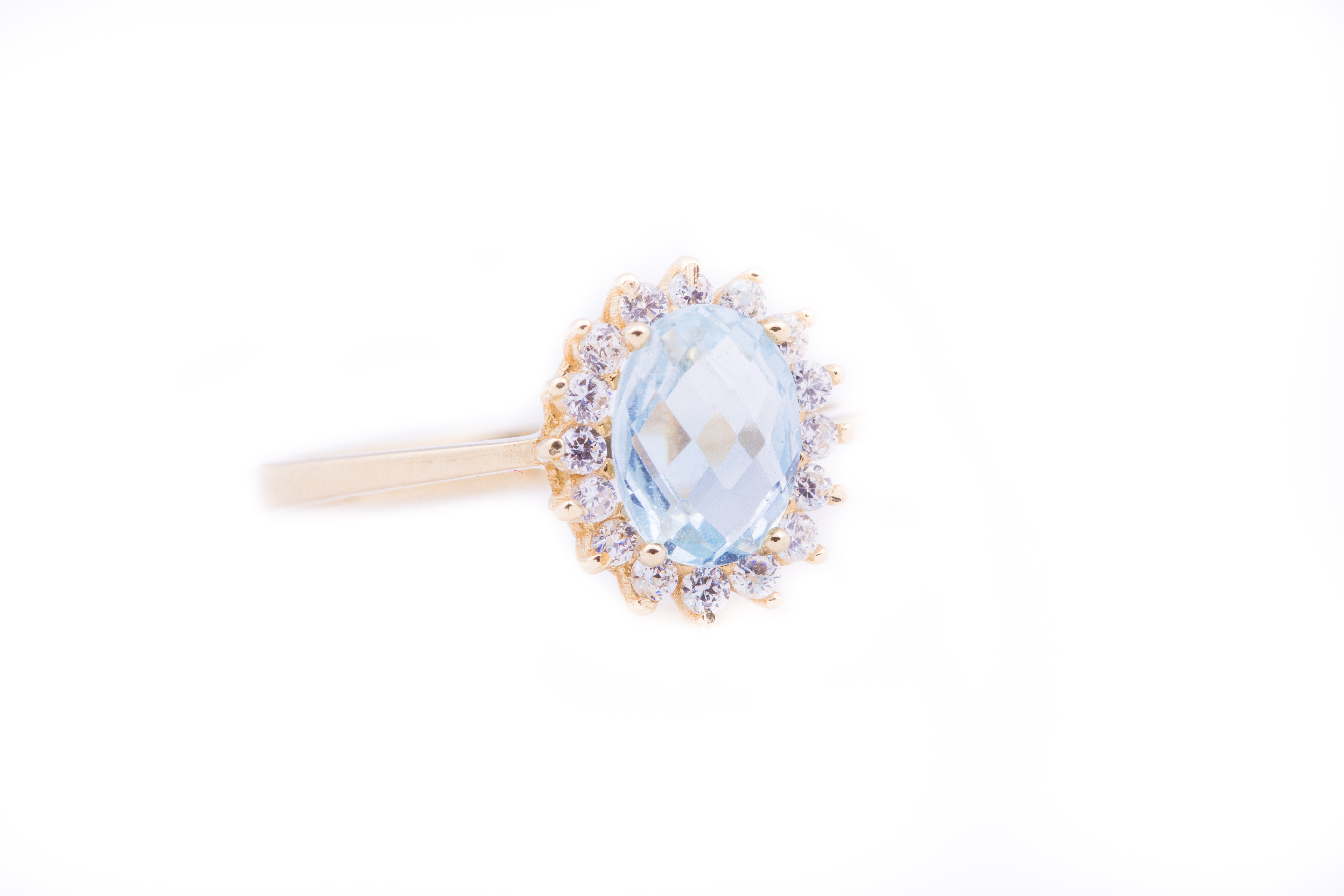 Aquamarine Sapphire Ring