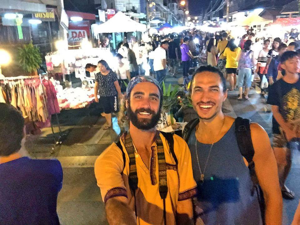 Chris and I at the  Saturday Wui Lai Market