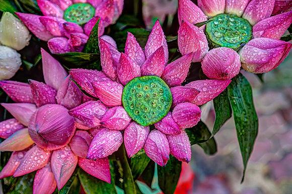 "Vietnam Flowers Arrangement 30"" X 40"" Acrylic"