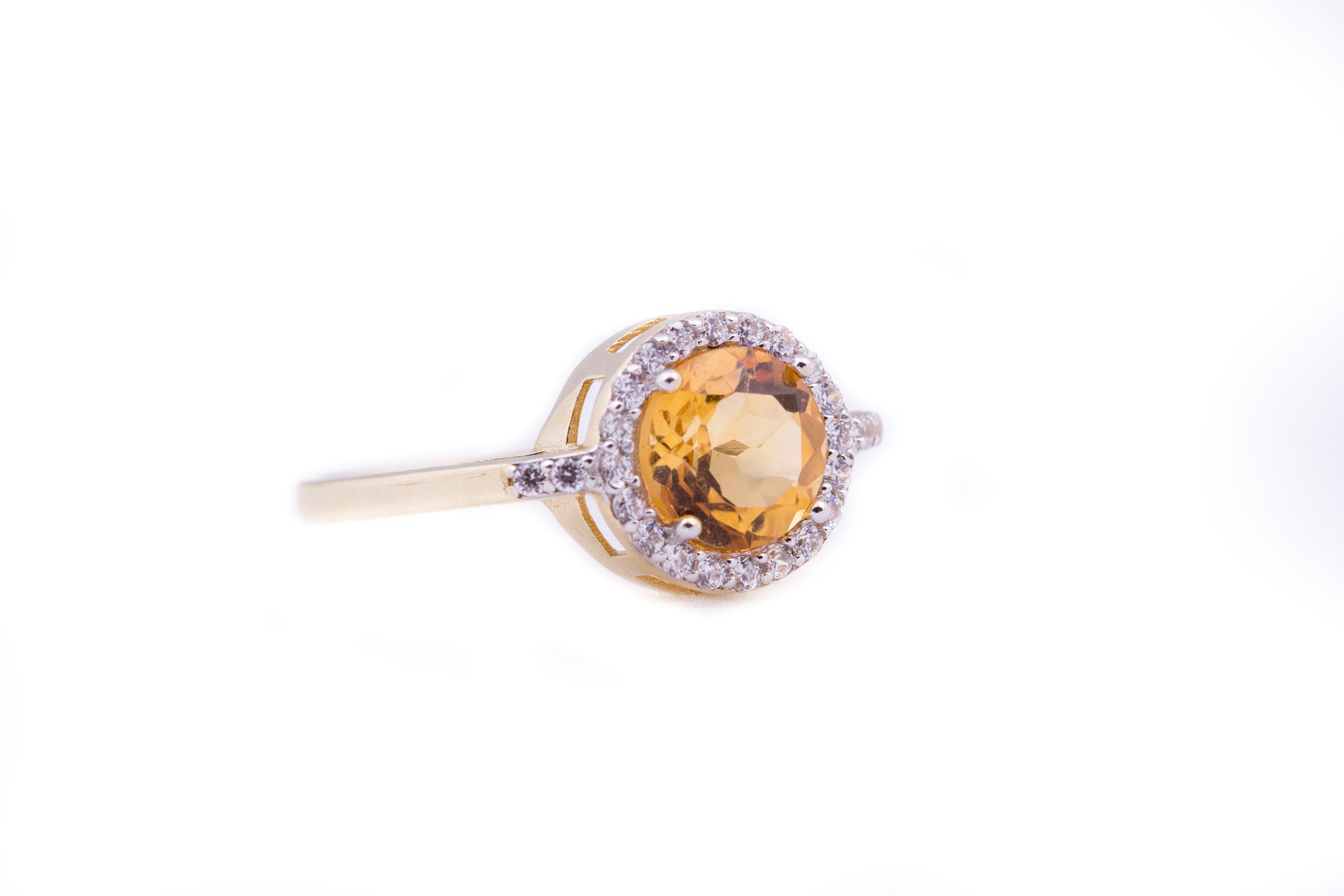 Citrine Sapphire Ring