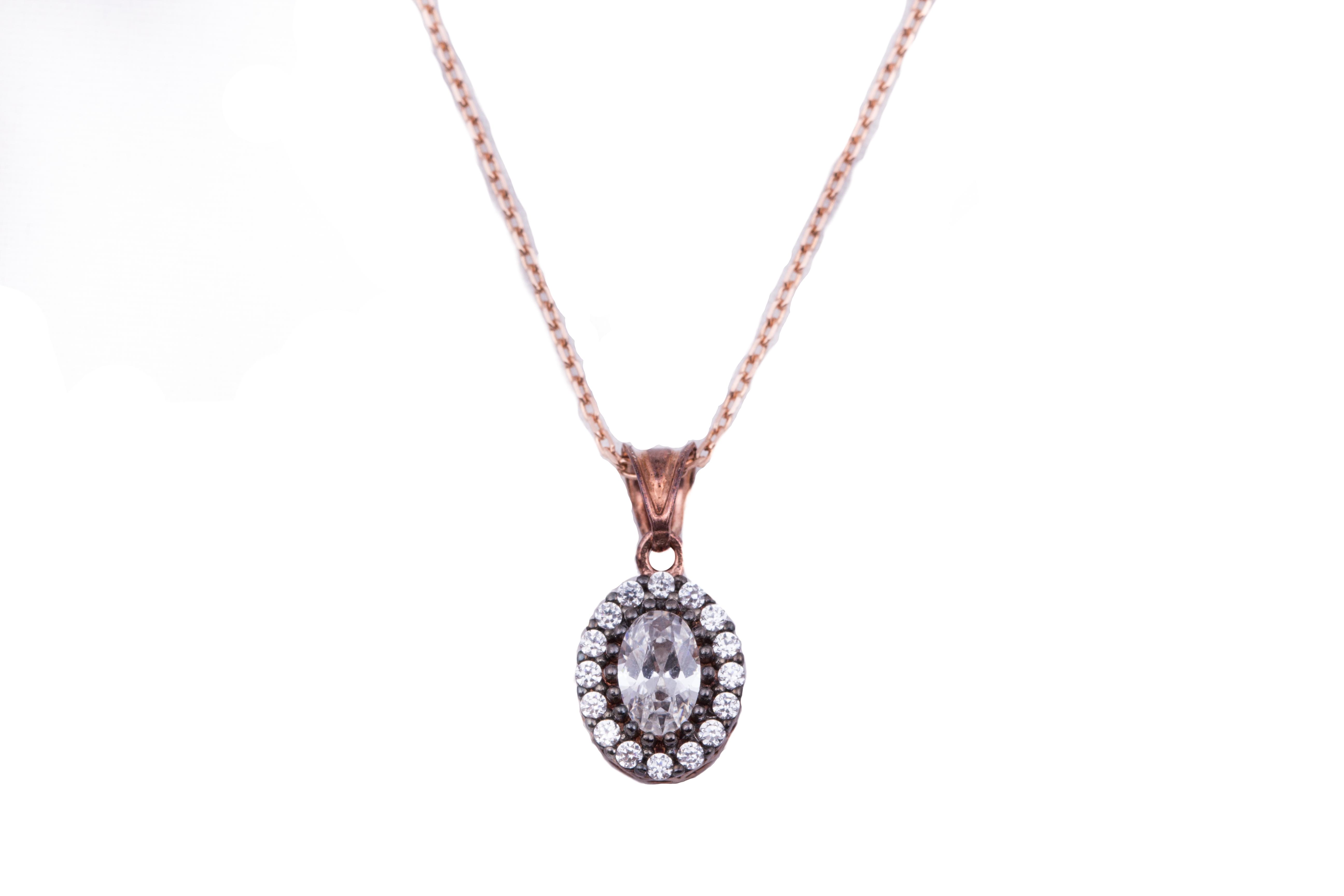 Rose Oval Necklace